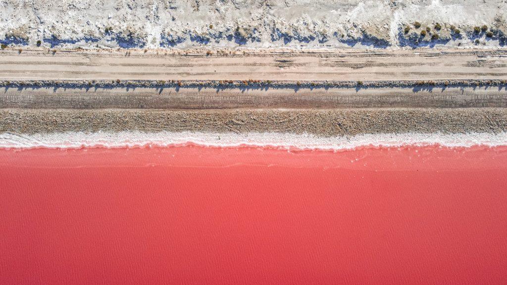 Pink lake France Camargue