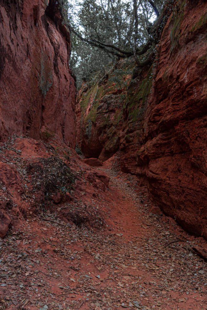 Red rocks France